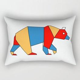 low poly bear Rectangular Pillow