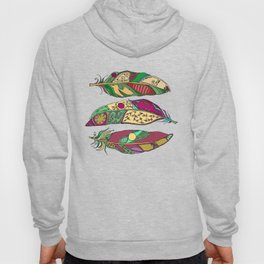 Bohemian Feathers on Honey Yellow - Hand-drawn Illustration Hoody