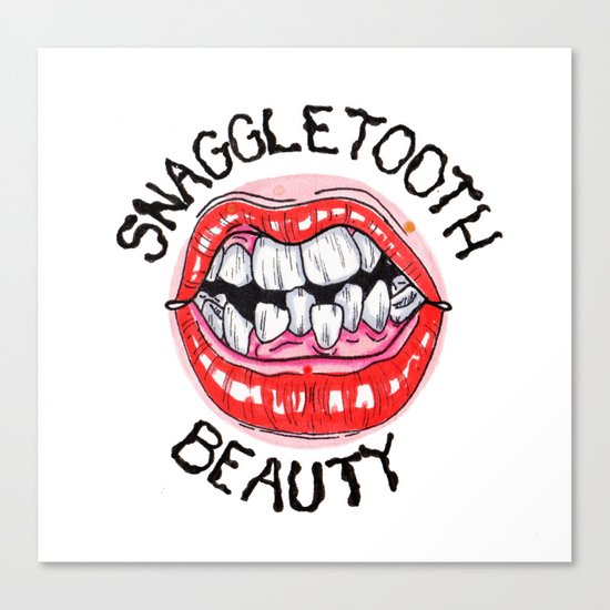 Snaggletooth Beauty Canvas Print