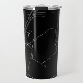 Drawing Hands (Black) - Line art from Escher Travel Mug