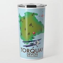 Torquay, devon, vintage style travel poster Travel Mug