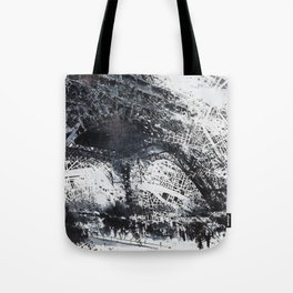 Eiffel tower painting  - Paris Map Tote Bag