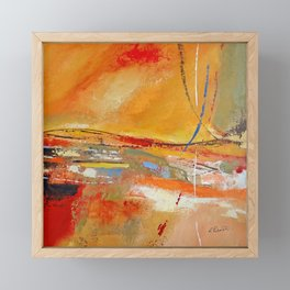 Party Lines Orange Abstract Framed Mini Art Print