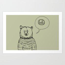 bear in bow tie Art Print