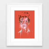 bowie Framed Art Prints featuring Bowie by Marcello Castellani