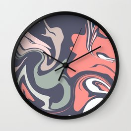 Abstract Marble Pattern Wall Clock
