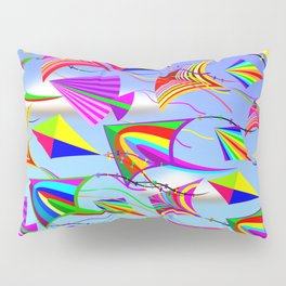 Kites Rainbow Colors in the Wind Pillow Sham