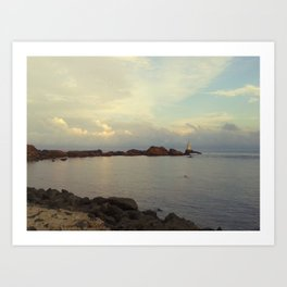 Lighthouse serenity Art Print