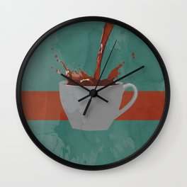 Caffeine splash Wall Clock