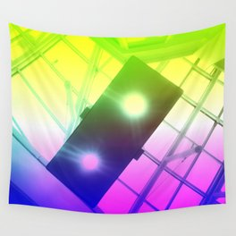 Urban Psychedelic Lights Wall Tapestry