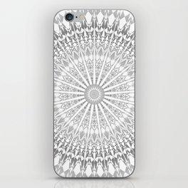 Gray White Mandala iPhone Skin