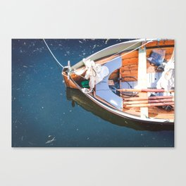 Nautical Fine Art Photography Boat in Water Canvas Print