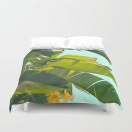 Banana Leaves II (Turquoise) Duvet Cover