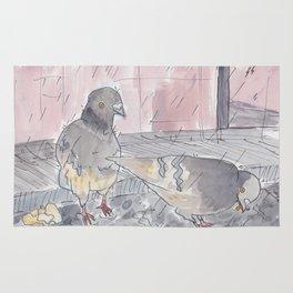 Portland Pigeons - Big Pink Rug