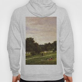 Study For Shark River 1877 By David Johnson   Reproduction   Romanticism Landscape Painter Hoody
