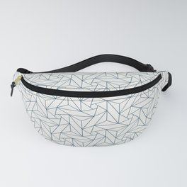 Blue & Off White Abstract Triangle Geometric Mosaic Pattern Pairs To 2020 Color of the Year Fanny Pack
