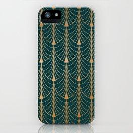 Hidden Sapphire Golden Pattern Background iPhone Case