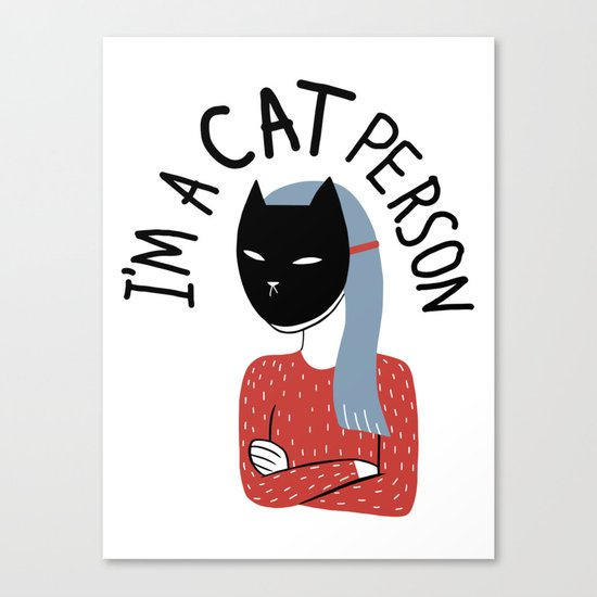 Cat Person Canvas Print
