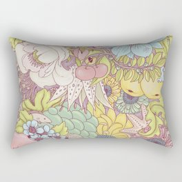 the wild side - summer tones Rectangular Pillow