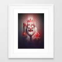 king Framed Art Prints featuring King of Doom by Dr. Lukas Brezak