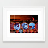 sin city Framed Art Prints featuring Sin City by Rishi Parikh