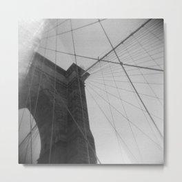 Brooklyn Bridge 04, Holga Metal Print