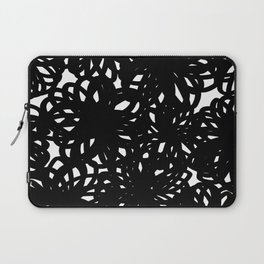 Bold Scribble Floral Laptop Sleeve