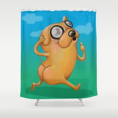 One  Magical Puppy Shower Curtain