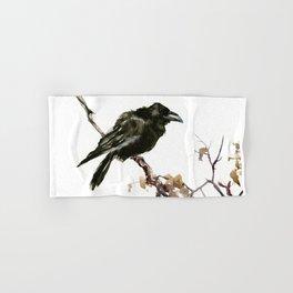 Raven, Raven art, Raven Design, Crow painting Hand & Bath Towel