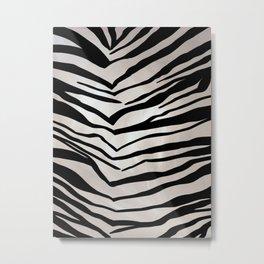 Africa, Safari, Zebra, Stripes, Animal Print Metal Print