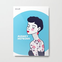 Audrey Hepburn II Metal Print