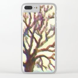 Branch of a Walnut tree in Winter Clear iPhone Case