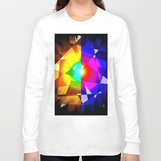 lined color flash Long Sleeve T-shirt