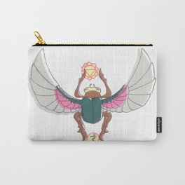 Pink/Green Scarab Carry-All Pouch