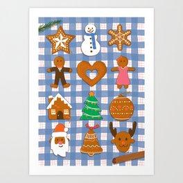 Gingerbread Cookies - Christmas delight Art Print