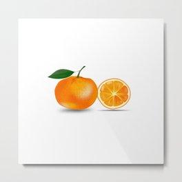 Orange and a Half Metal Print