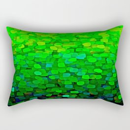 Glitter Sparkles Green Rectangular Pillow