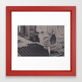 baking... Framed Art Print