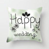wedding Throw Pillows featuring wedding by luiza13