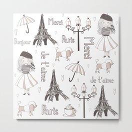 Paris Girl Metal Print