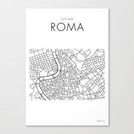 Roma - City Map - Daniele Drigo Canvas Print