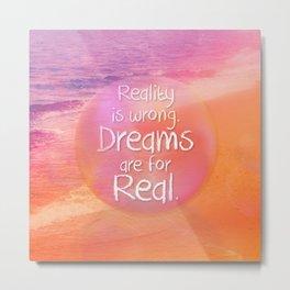 Beach Waves IV - Dreams and Reality Metal Print