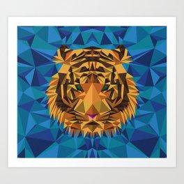 Liger Abstract - Its a Lion Tiger Hybrid Art Print
