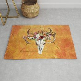 Boho Deer Skull Rug