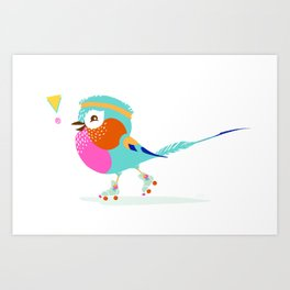 Lilac Roller Art Print