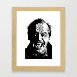 Jack's smile Framed Art Print