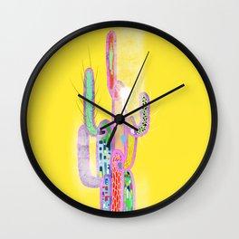 cactus colorful 1 Wall Clock