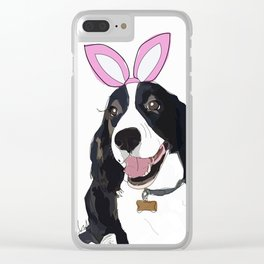 Happy Easter - Springer Spaniel Clear iPhone Case