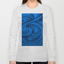swirl (dark blue) Long Sleeve T-shirt
