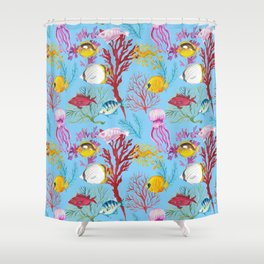 Coral Reef - All Together Water Shower Curtain